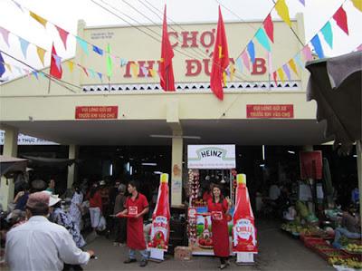 Tổ chức sự kiện HEINZ chợ Thủ Đức
