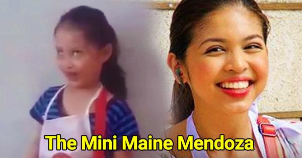 Mini Maine Mendoza caught the netizens' attention!