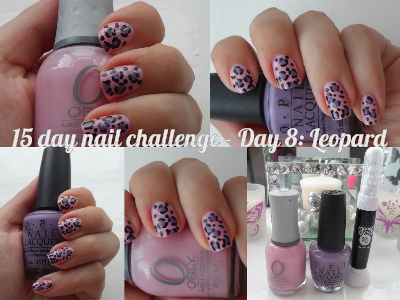 Makeup Savvy 15 Day Nail Challenge Day 8 Leopard Print Flutter