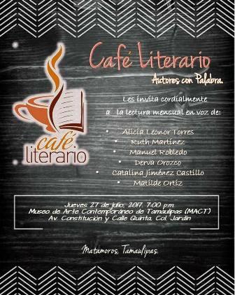 CAFE LITERARIO, AUTORES CON PALABRA