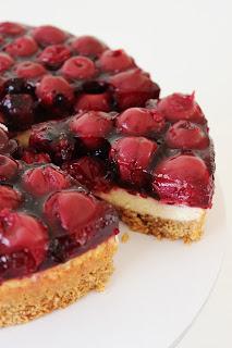 Kersen-cheesecake