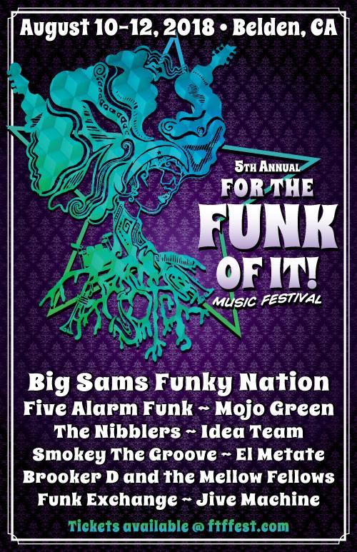 8/10-8/12 : 5th Annual For The Funk of It Music Festival