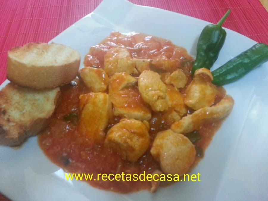 y en el blog de la cocina de masito le han sacado un partido tremendo pues esta pechuga de pollo con tomate aromatizado y queso fundido