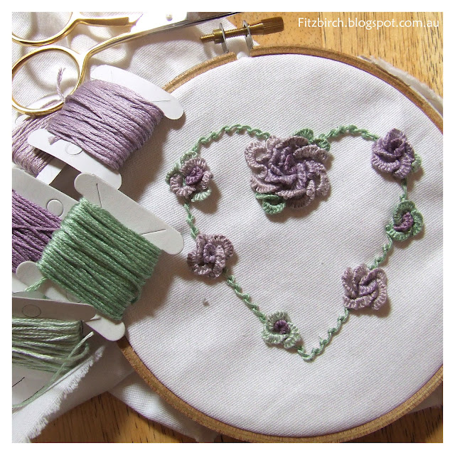 Embroidery Rose Heart