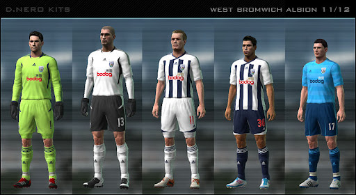 West Bromwich 11/12 Kit Set by Dark Nero