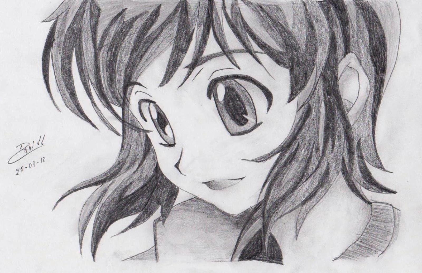 anime amor sombreados dibujos a lapiz: Dibujos De Amor: Dibujo De Amor A Lapiz