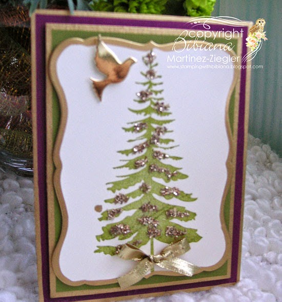 side forest pine christmas card