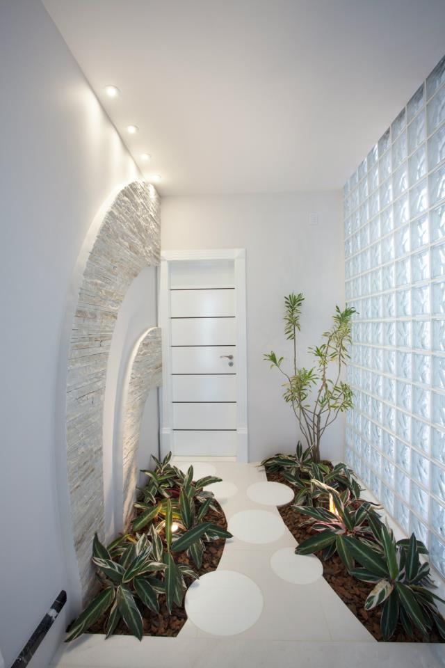 Construindo minha casa clean jardins de inverno ou - Pintar entrada piso ...