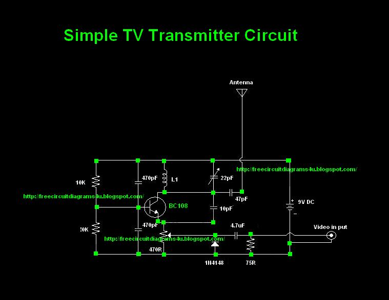 Simple Tv Transmitter Circuit Diagram  Vhf