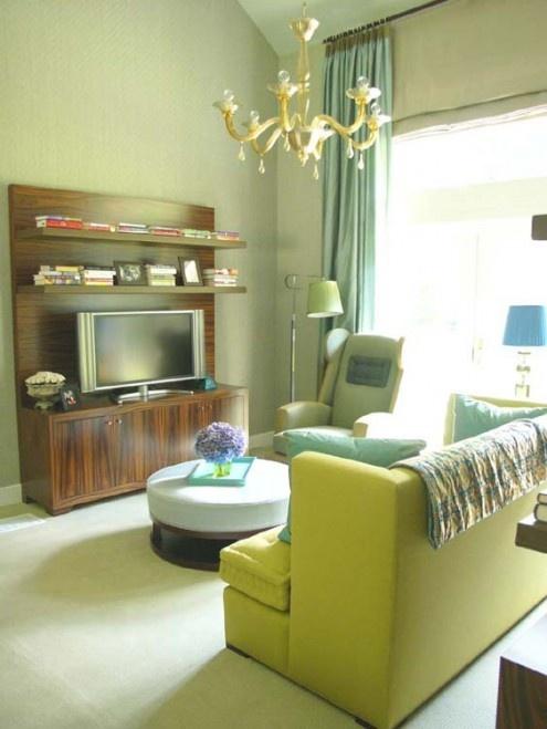 Decoraci n de salas de color verde casas decoracion - Casas color verde ...