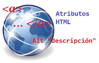 icono de Internet junto con el atributo ALT