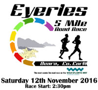 Eyeries 5 mile race in West Cork...Sat 12th Nov 2016