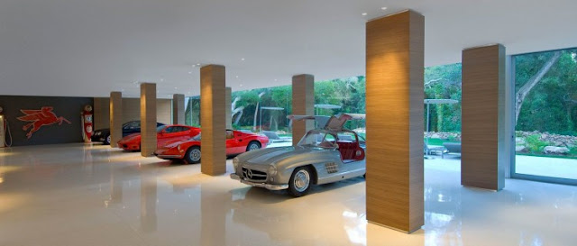 Photo of luxury cars in the garage