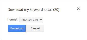 Silahkan pilih CSV for Excel pada bagian Format. Kemudian klik Download