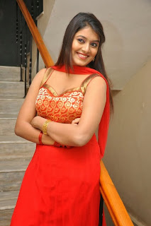 Actress Kavya Kumari Picture Gallery in Red Dress at Hrudaya Kaleyam Trailer Launch  0099.jpg