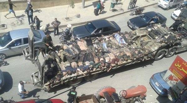 «Παρέλαση» πτωμάτων ισλαμιστών και Τούρκων από τους Κούρδους στο Χαλέπι - (vid)