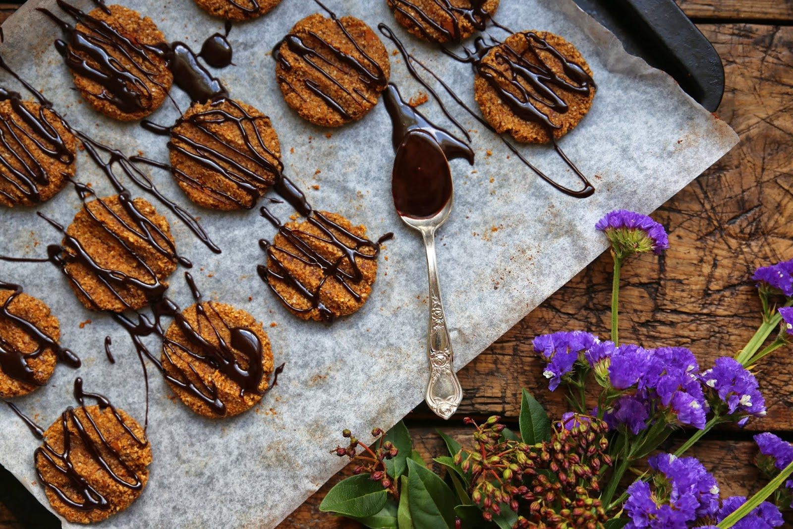 Chocolate Hazelnut Spiced Cookies Recipe — Dishmaps