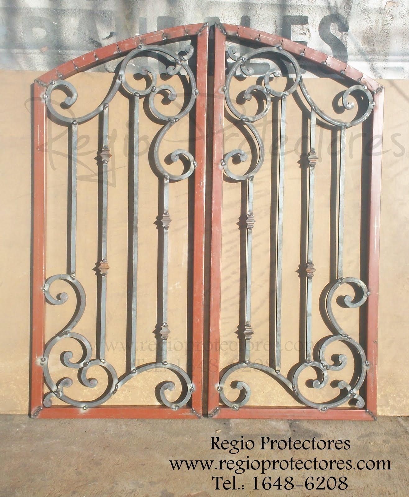 Inserto de Hierro Forjado para puerta de Madera, Avance #188
