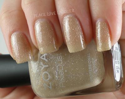Zoya, PixieDust, Pixies, texture polish, sparkle, nude, tan