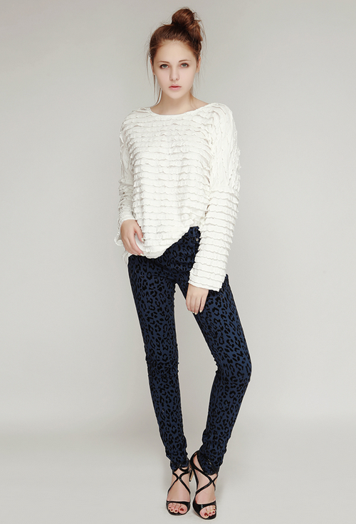 Leopard Skinny Pants