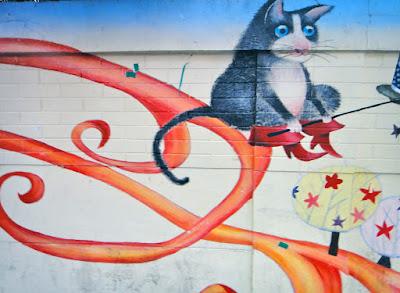 Wall art in Hongdae Seoul