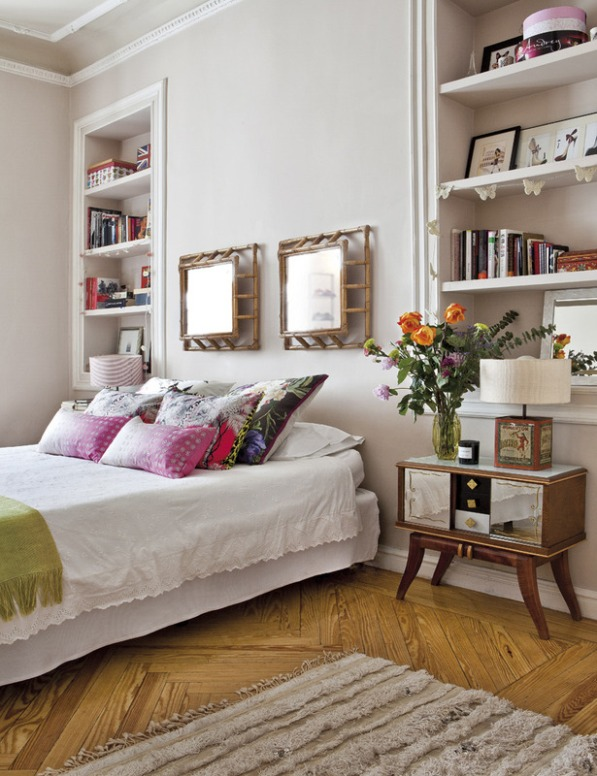 dormitorio con decoracion  vintage