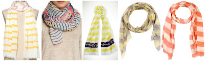 JCSunny Striped Print Oblong Scarf  $17.99  Blue Pacific Brushed Horizontal Stripe Scarf $18.97 (regular $89.00)  Ralph Lauren Lightweight Striped Scarf $19.99 (regular $58.00)  Arte Cashmere Stole $24.00 (regular $86.00)  Guardaroba By Aniye By Stoles $28.00 (regular $67.00)