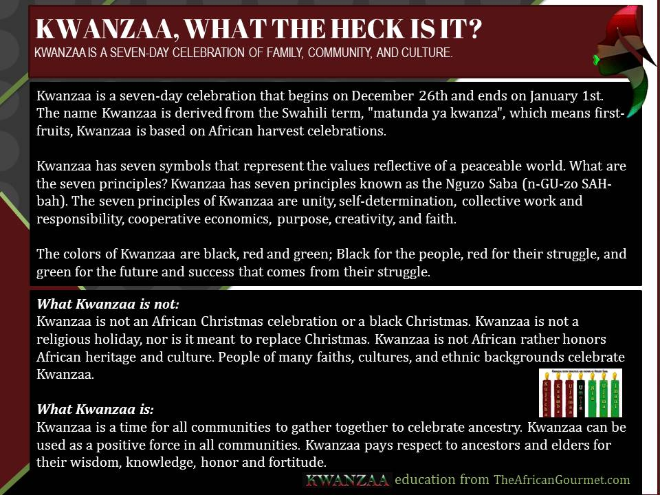 Kwanzaa is a seven-day celebration of family, community, and culture. #Kwanzaa