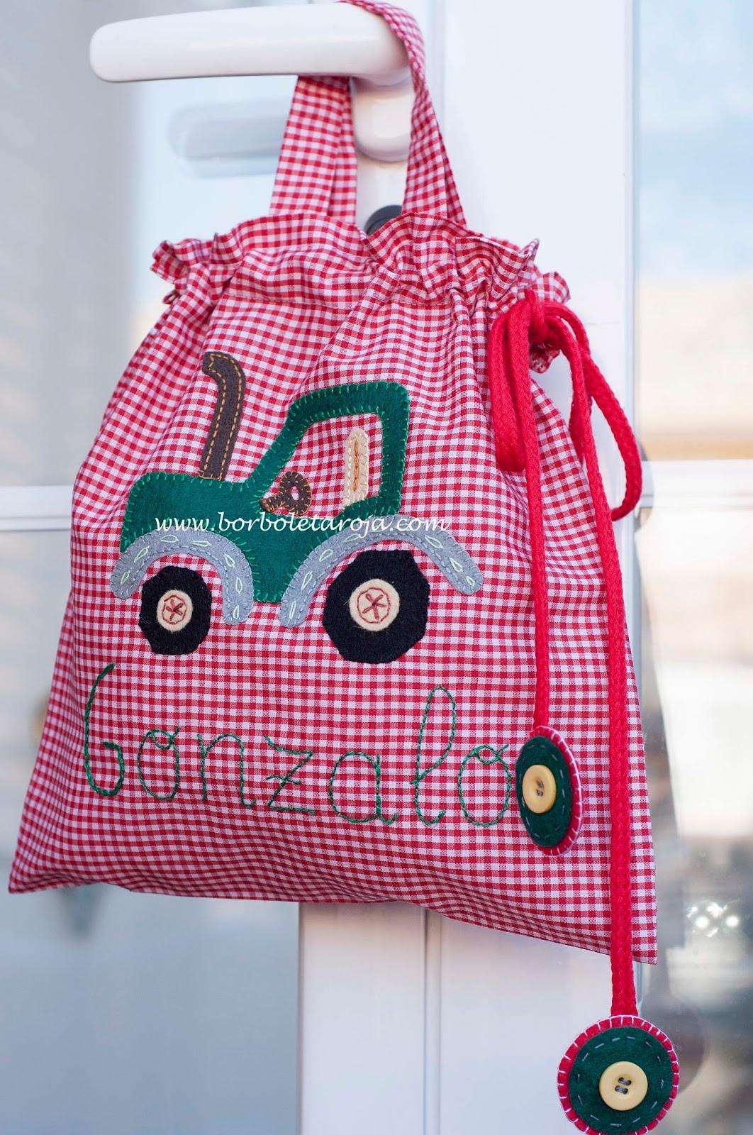 Borboleta roja vuelta al cole vuelta al trabajo bolsas - Bolsas de regalo personalizadas ...