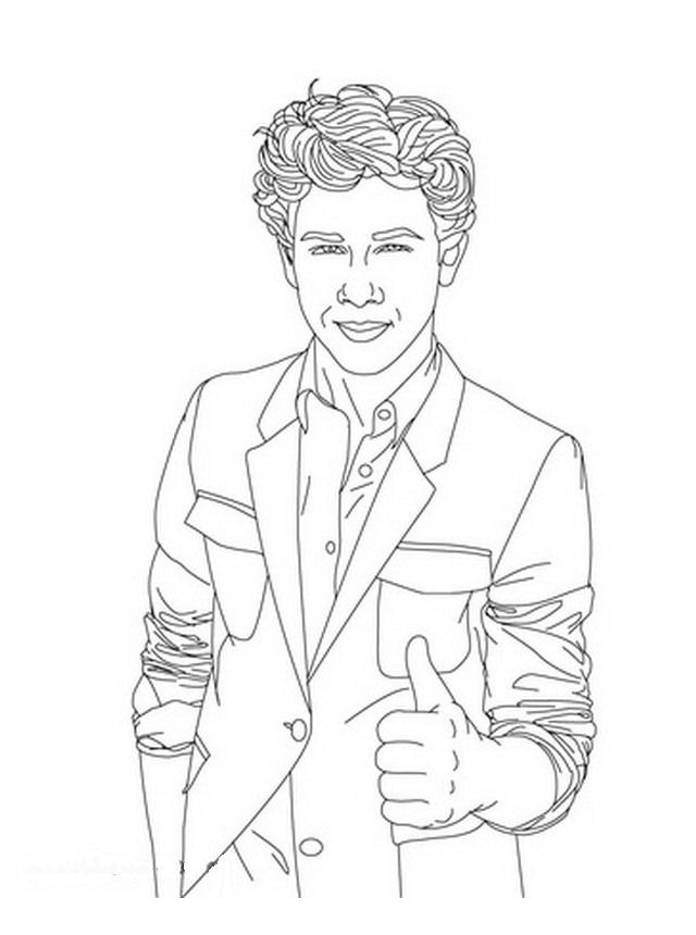 jonas brothers printable coloring pages - photo#22