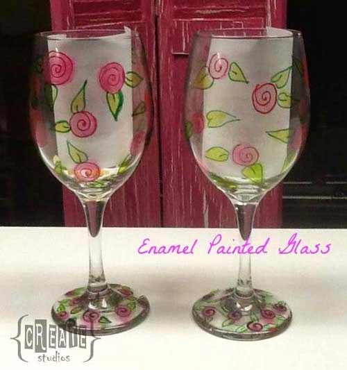Enamel Glass Painting @ Create Studios Baton Rouge