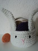 Eastern Bunny Basket - Canasta Conejo de Pascuas easter bunny basket eggs