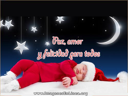Paz amor y felicidad para todos, postales de navidad paz y amor, Tarjetas para compartir en facebook.