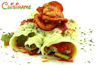 canelones, receta de canelones, canelones rellenos, sobrasada, mozzarella, canelones con queso, recetas originales, recetas caseras, recetas de cocina, recetas fáciles