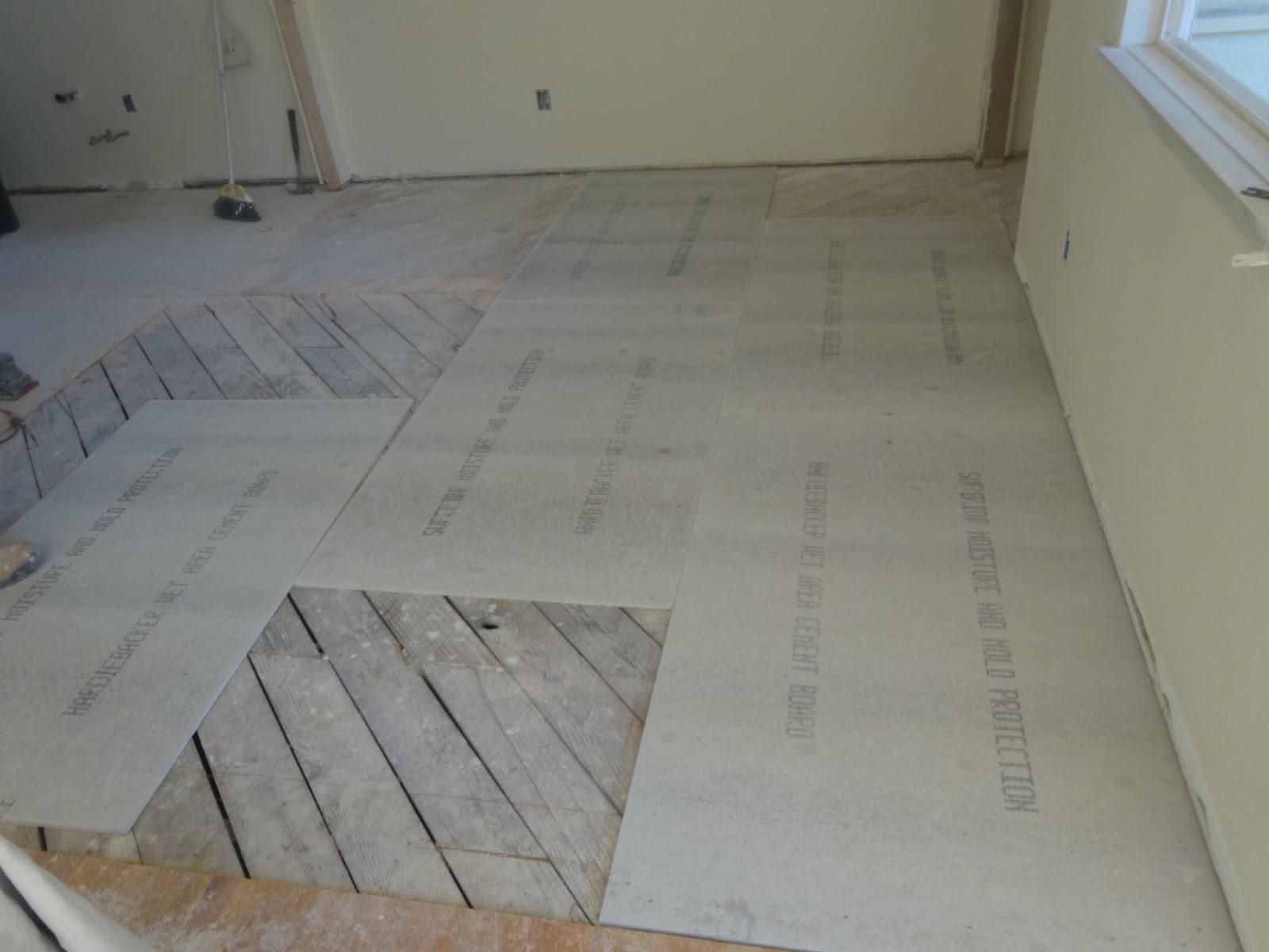 Building A Handyman July - Thin backer board for floor tile