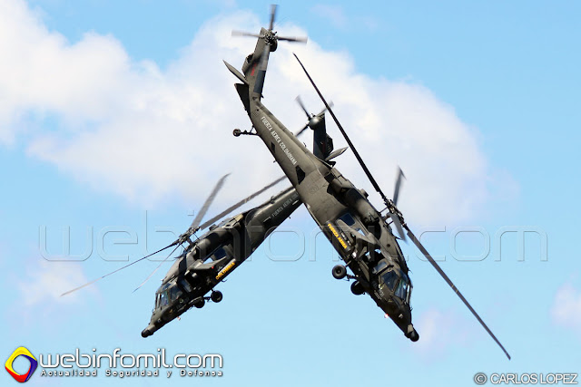 Team acrobático Arpía 51 del Comando Aéreo de Combate No 5