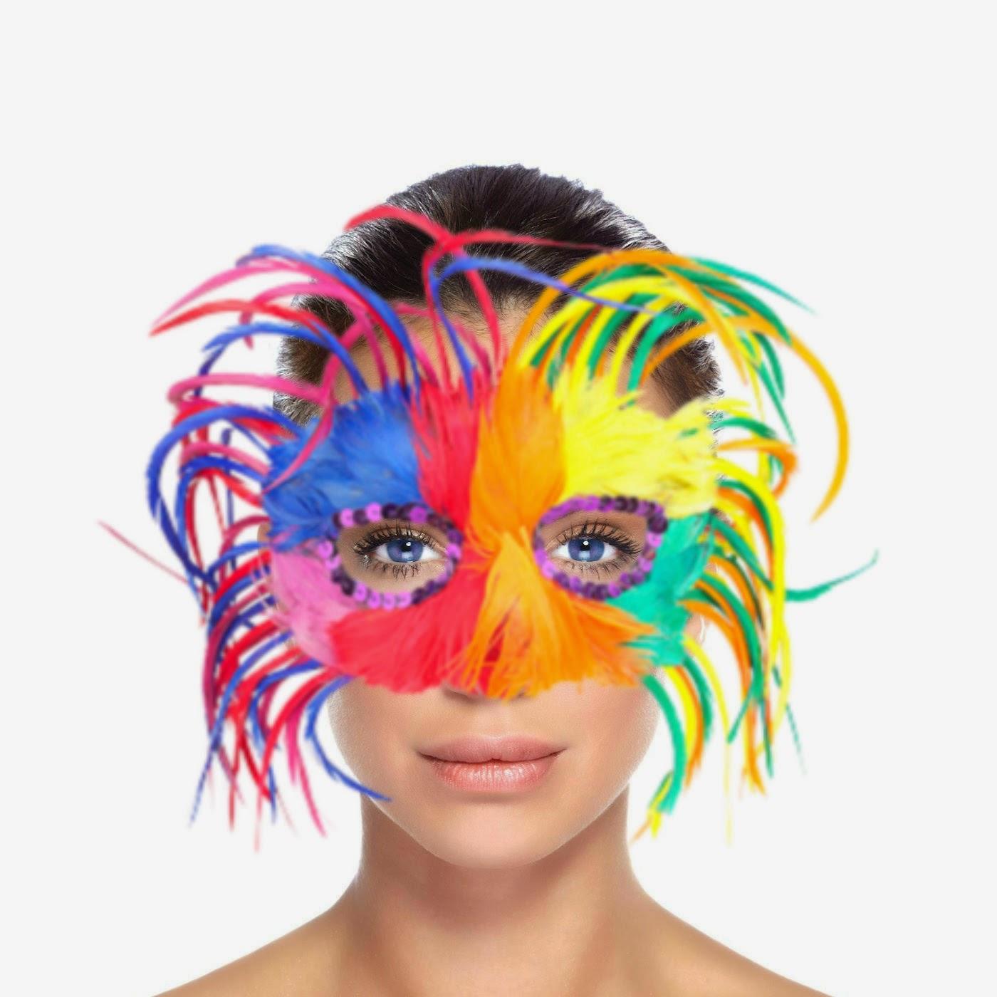 Mulher Máscarada de Multi cor leve