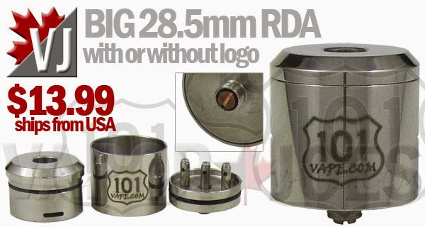 BIG 28.5mm Rebuildable Atomizer with Adjustable Airflow & Optional Logo