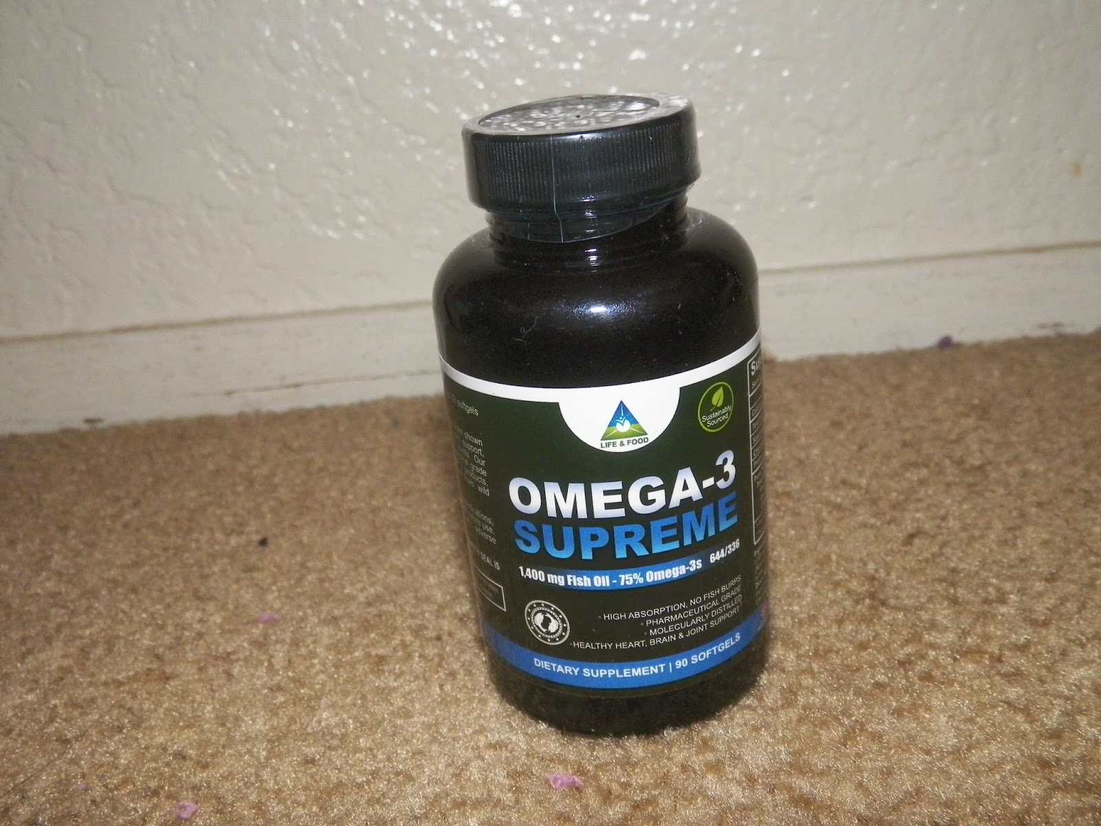 Mygreatfinds life food omega 3 supreme supplement review for Fish oil for cooking