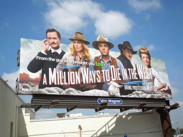 Million Ways to Die in the West special billboard