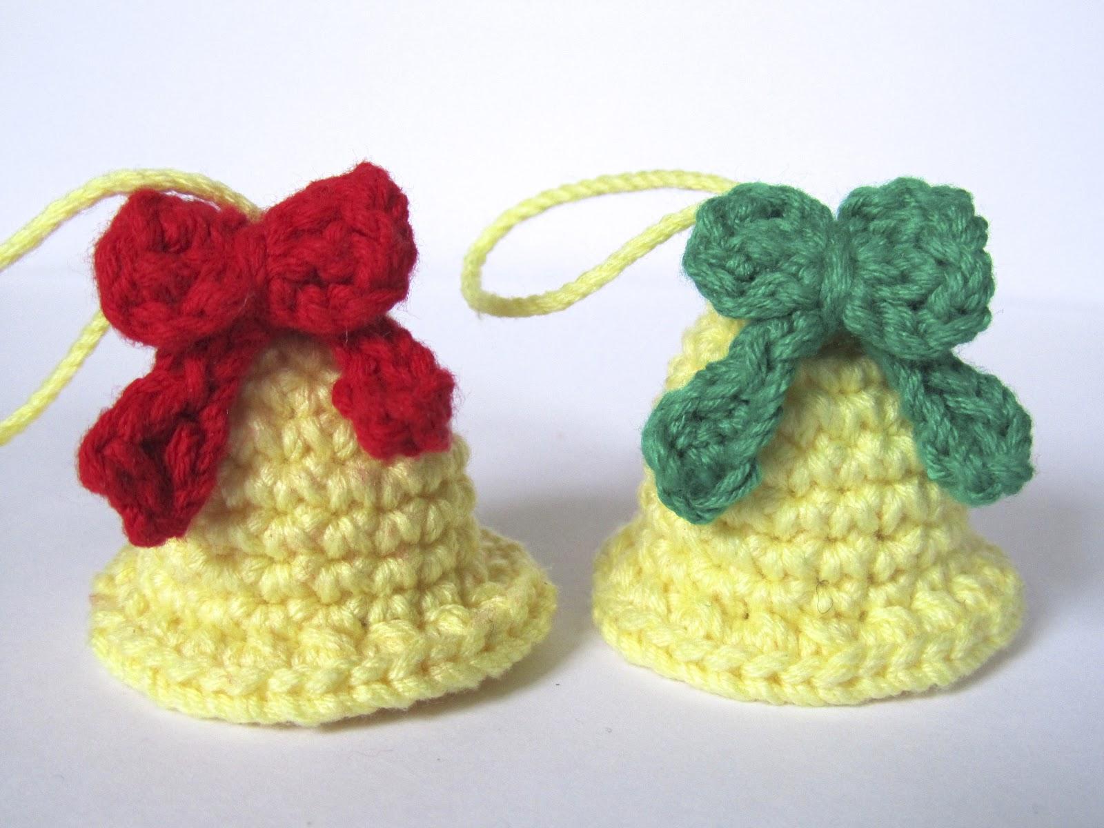 Amigurumis Navideños Patrones Gratis : Crafteando que es gerundio: patrón: campanas navideñas pattern