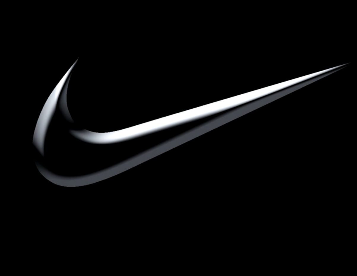 how to draw nike logo 3d