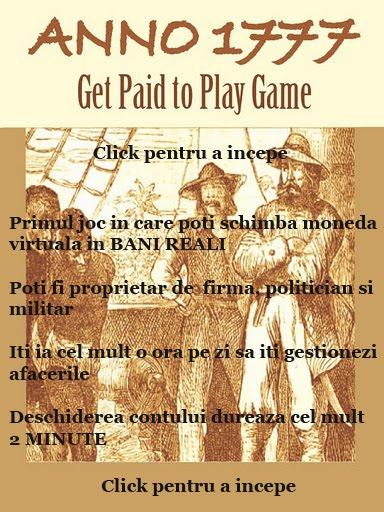 Joaca ANNO1777 si transforma profitul in BANI REALI