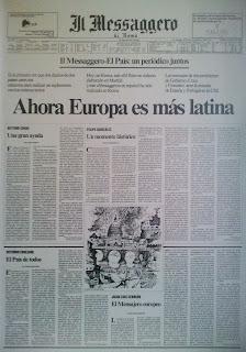 """Il Messaggero, 4 enero 1986 - """"Ahora Europa es más latina"""""""