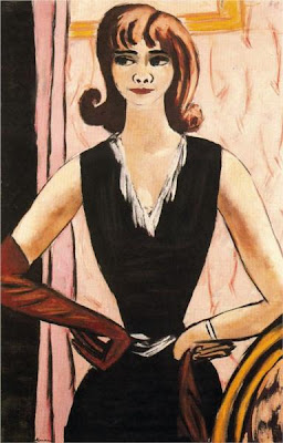 Max beckmann - Quappi in pink and purple, 1931