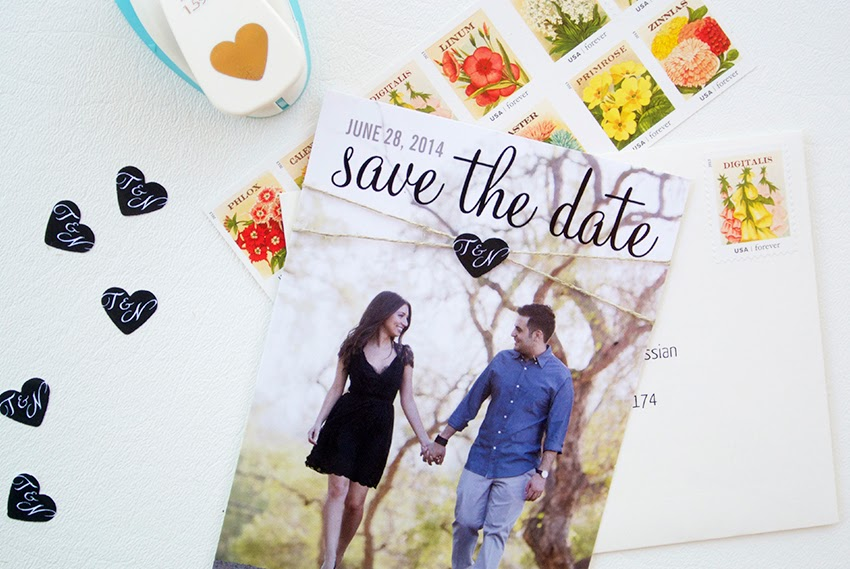 my diy wedding save the date cards