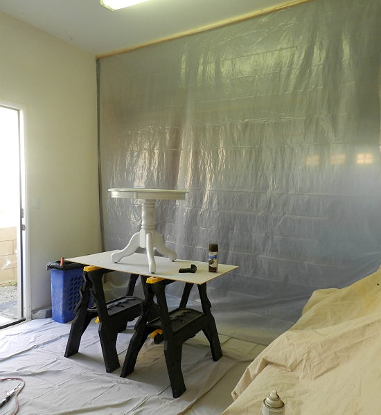 Anyone Can Decorate Diy Garage Spray Paint Booth