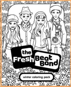 Fresh Beat Band Winter Coloring Pack Printable