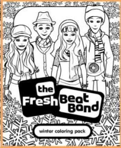Fresh Beat Band Winter Coloring Pack Printable