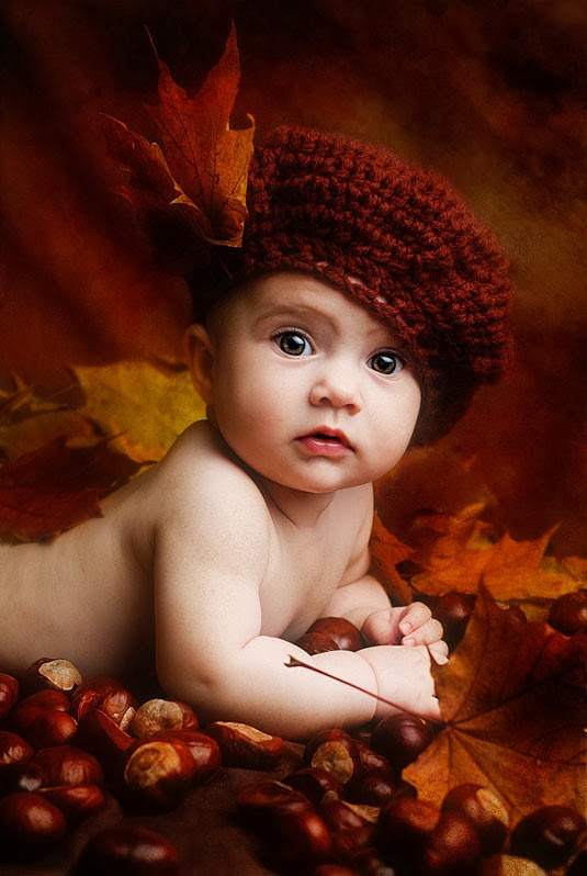 Autumn Shot Awesome Baby Photography Ideas
